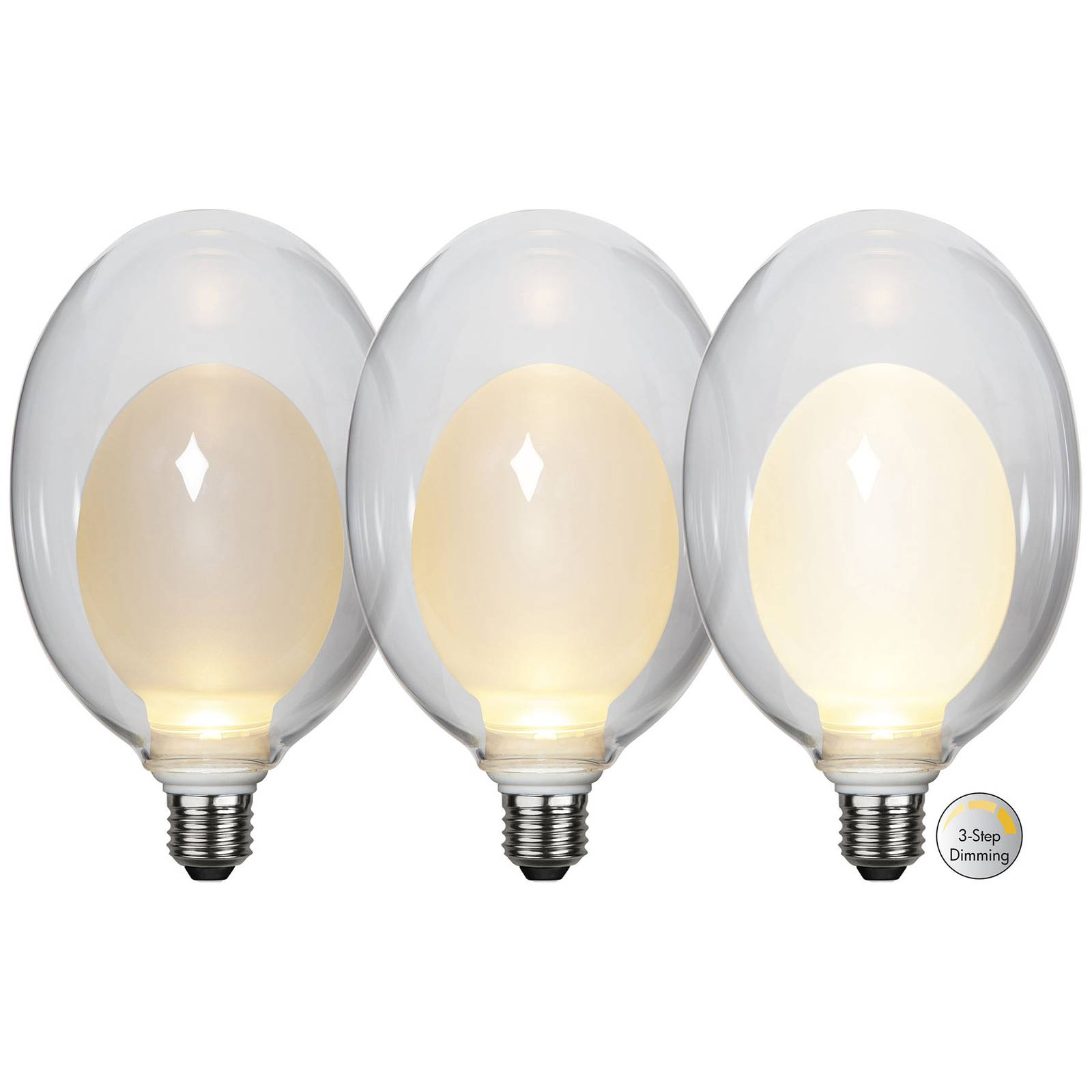 LED-lamppu Space E27 3,5W D120, opaali, 3-step dim