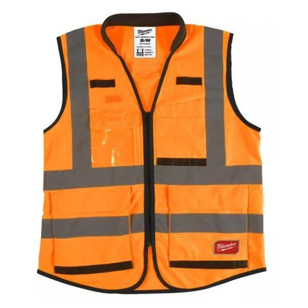 Milwaukee Hi Visible Premium Sikkerhetsvest varsel, oransje S/M