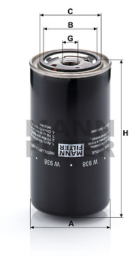 Öljynsuodatin MANN-FILTER W 938