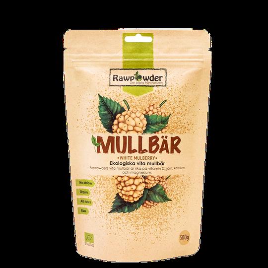 Mullbär, Ekologiska Vita Mullbär, 500 g