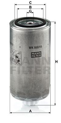 Polttoainesuodatin MANN-FILTER WK 950/19