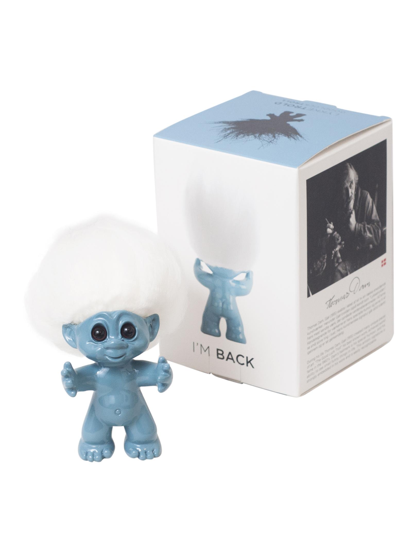 Good Luck Troll- Gjøl Trold 9 cm. - Light Blue (92865)