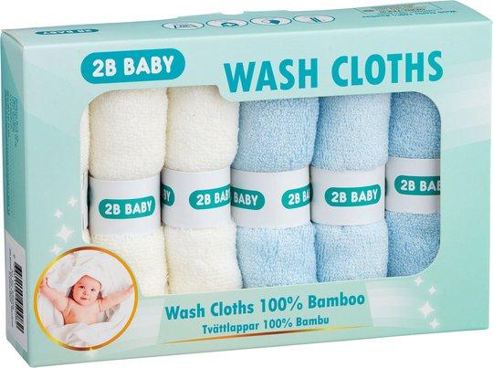 2B Baby Vaskekluter Bambus 6-pack, Blå