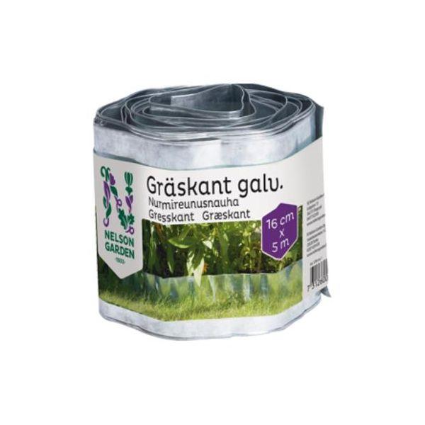 Nelson Garden 5296 Gresskant galvanisert, 16 x 500 cm