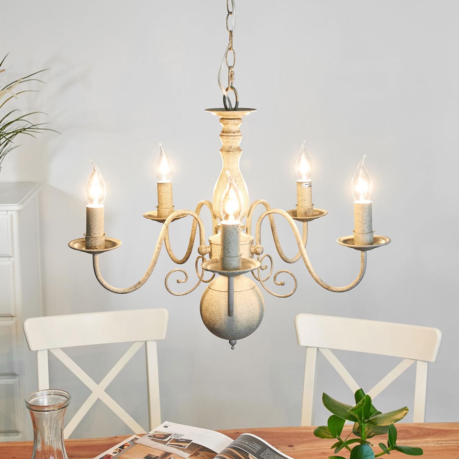 5-lamppuinen Greythorne-kattokruunu