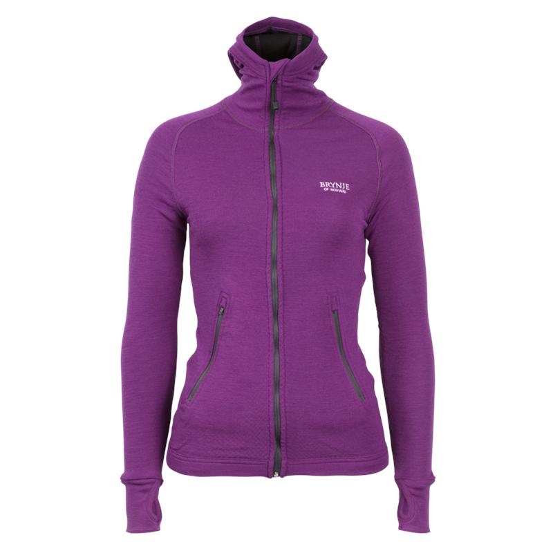 Brynje Lady Arctic Jacket XL Violet Med tettsittende hette