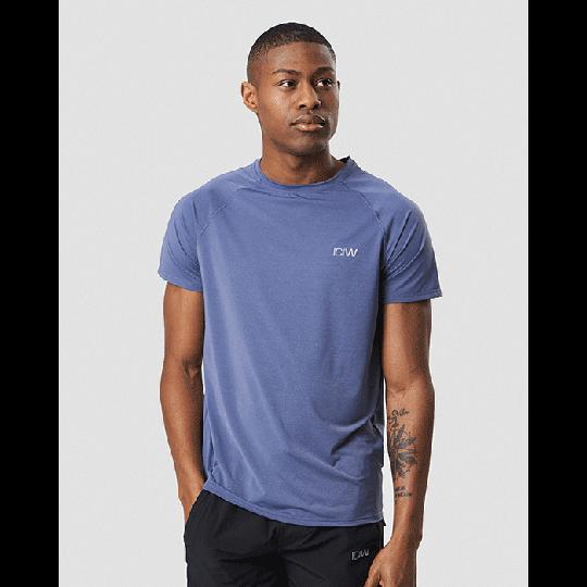 Workout Melange T-shirt, Steel Blue Melange