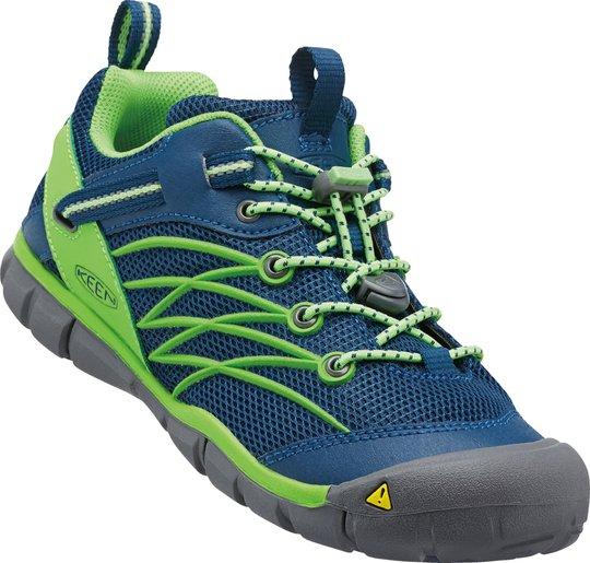 KEEN Chandler CNX Sneaker, Poseidon/Jasmine Green 32-33
