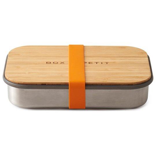 Black + Blum Rostfri Matlåda med Bambulock - Orange, 900 ml