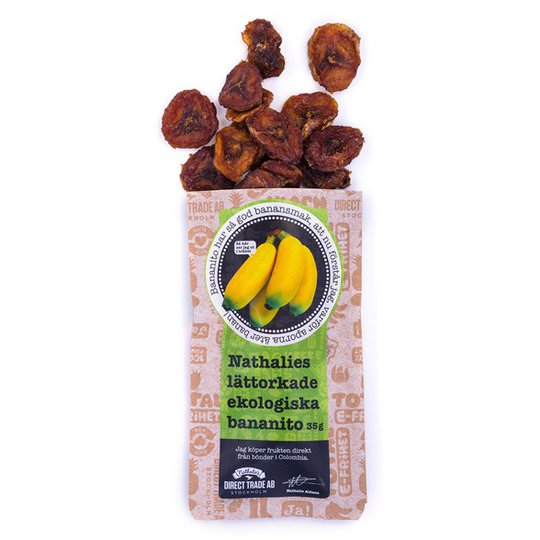 Nathalies Ekologisk Lättorkad Bananito, 35 g