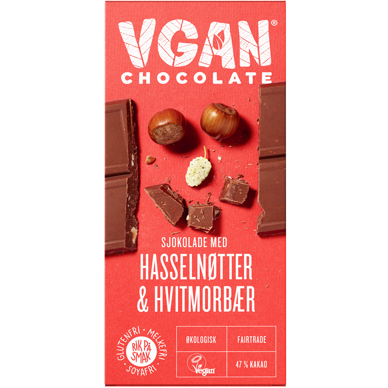 Eko Choklad Hasselnötter & Mullbär - 36% rabatt