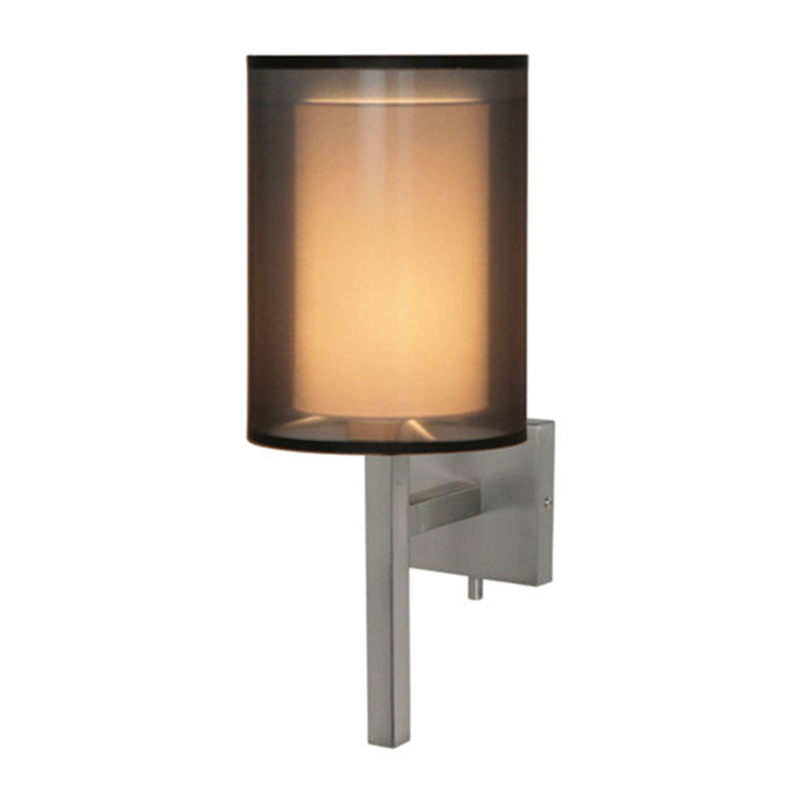 Vegglampe Quattro med organza-skjerm