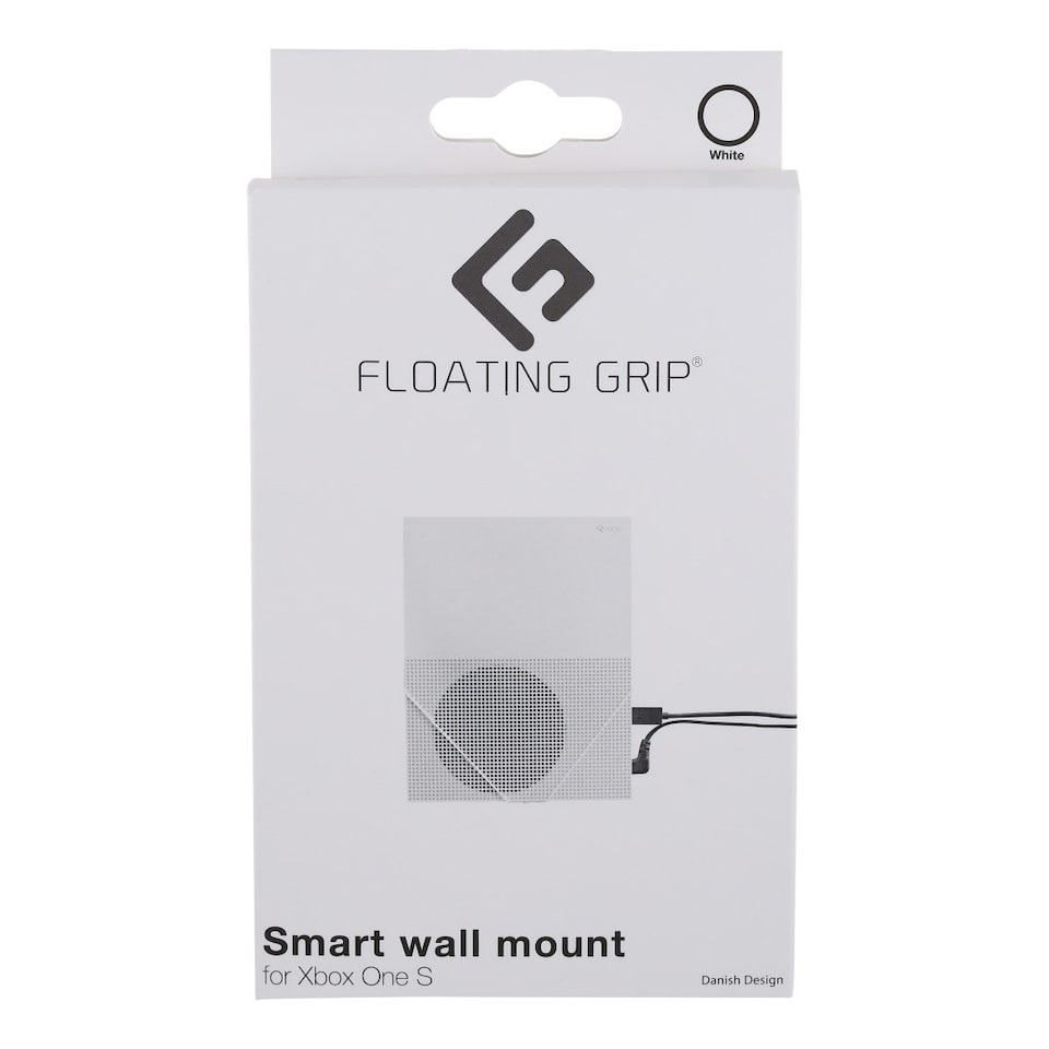 FLOATING GRIP® wall mount for Xbox One S, White