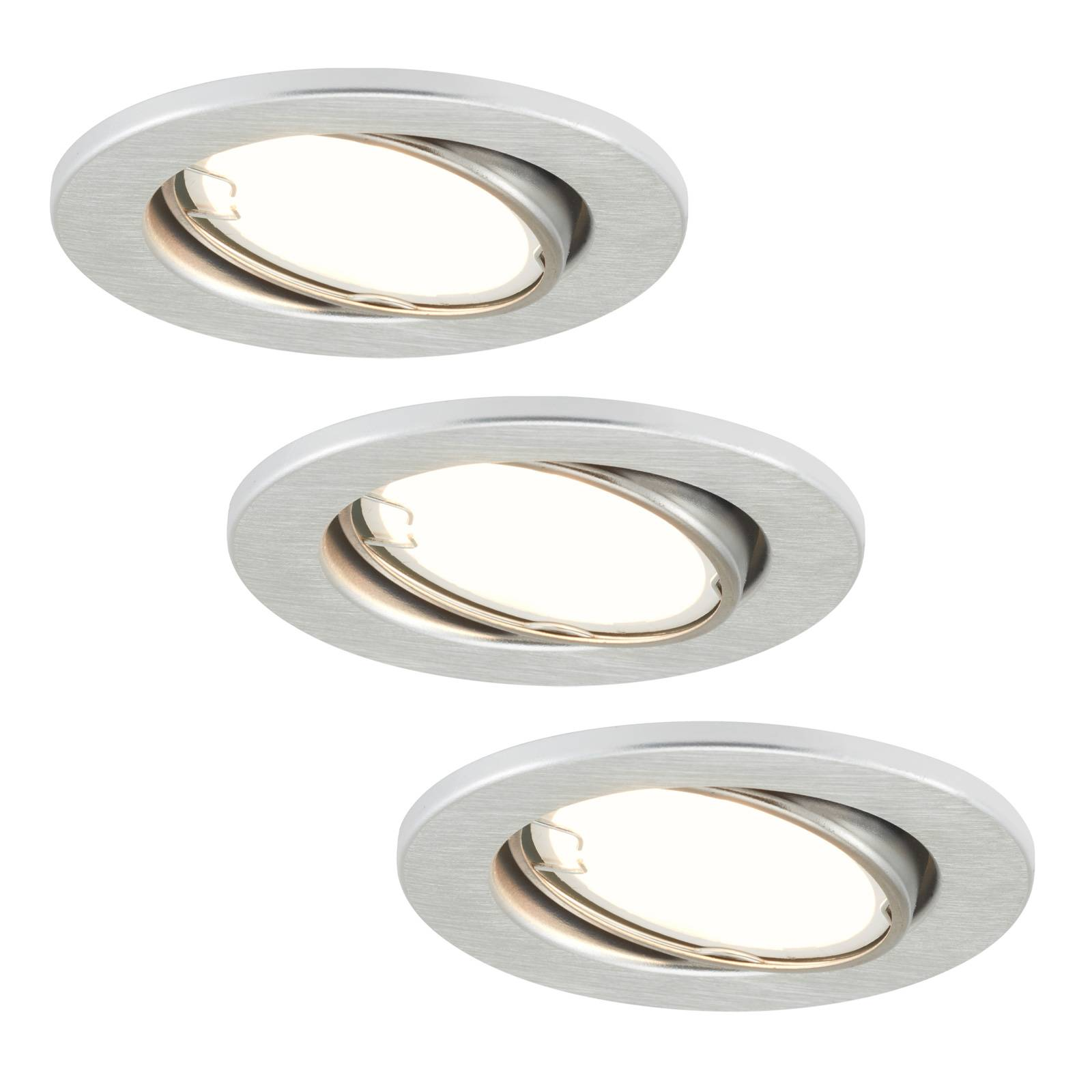 LED-uppovalaisimet 7221-039 Fit 3 kpl, nikkeli