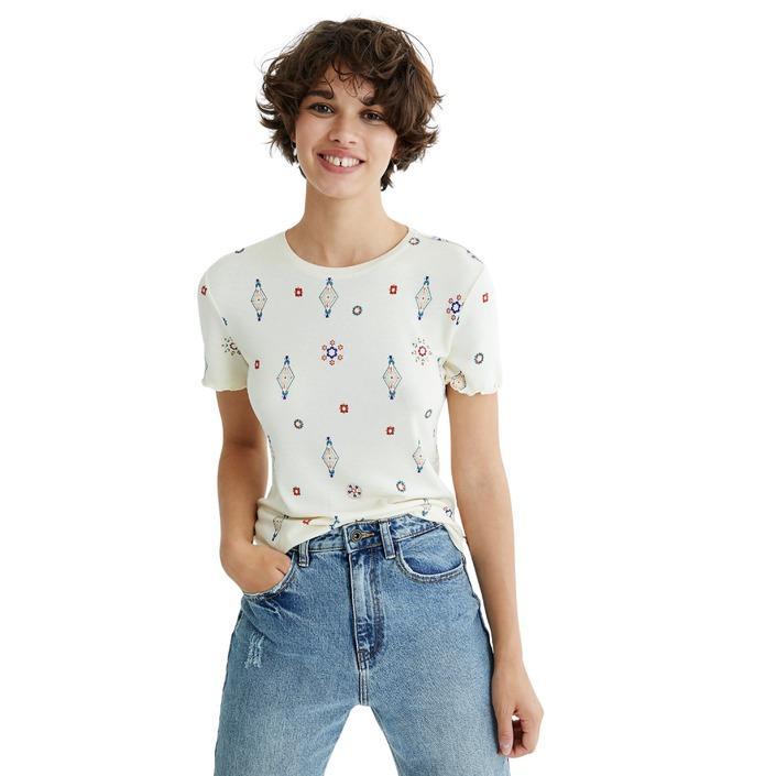 Desigual Women's T-Shirt White 319481 - white M