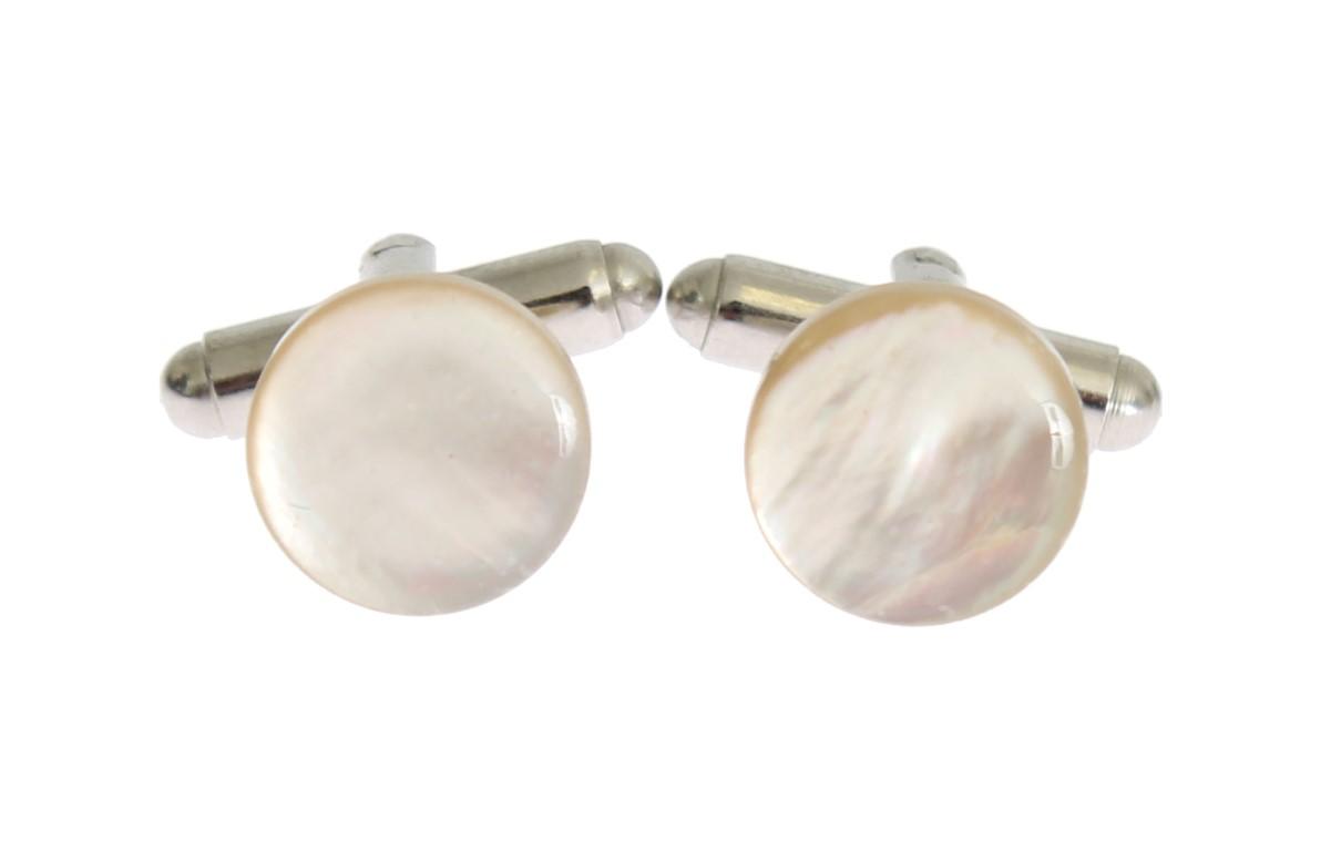 Dolce & Gabbana Men's Brass Round Cufflinks Silver SIG31523