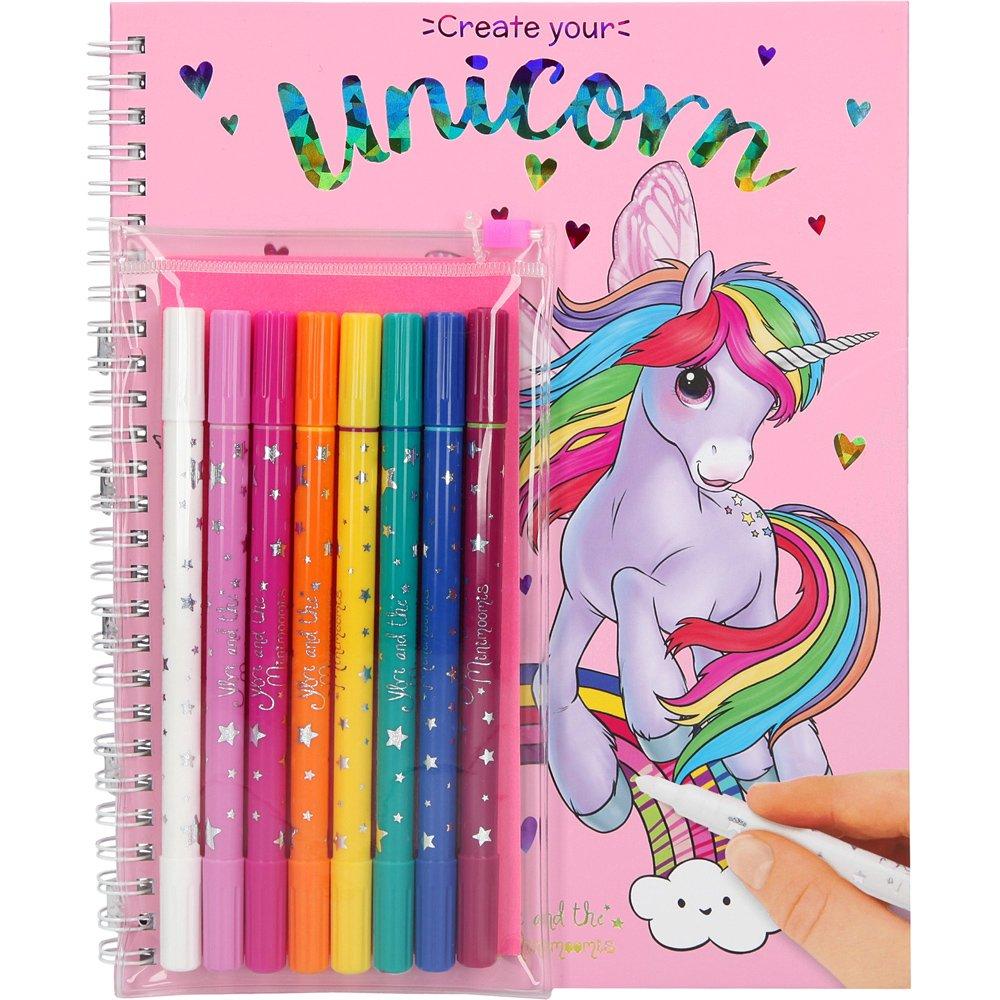 Ylvi & the Minimoomis - Coloring Book w/Magic Markers (047898)