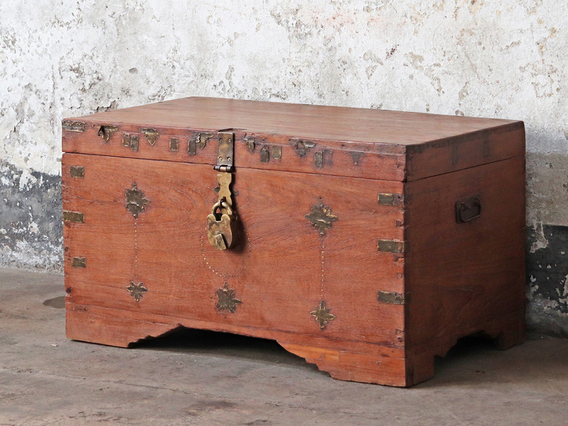 Antique Wooden Chest Large