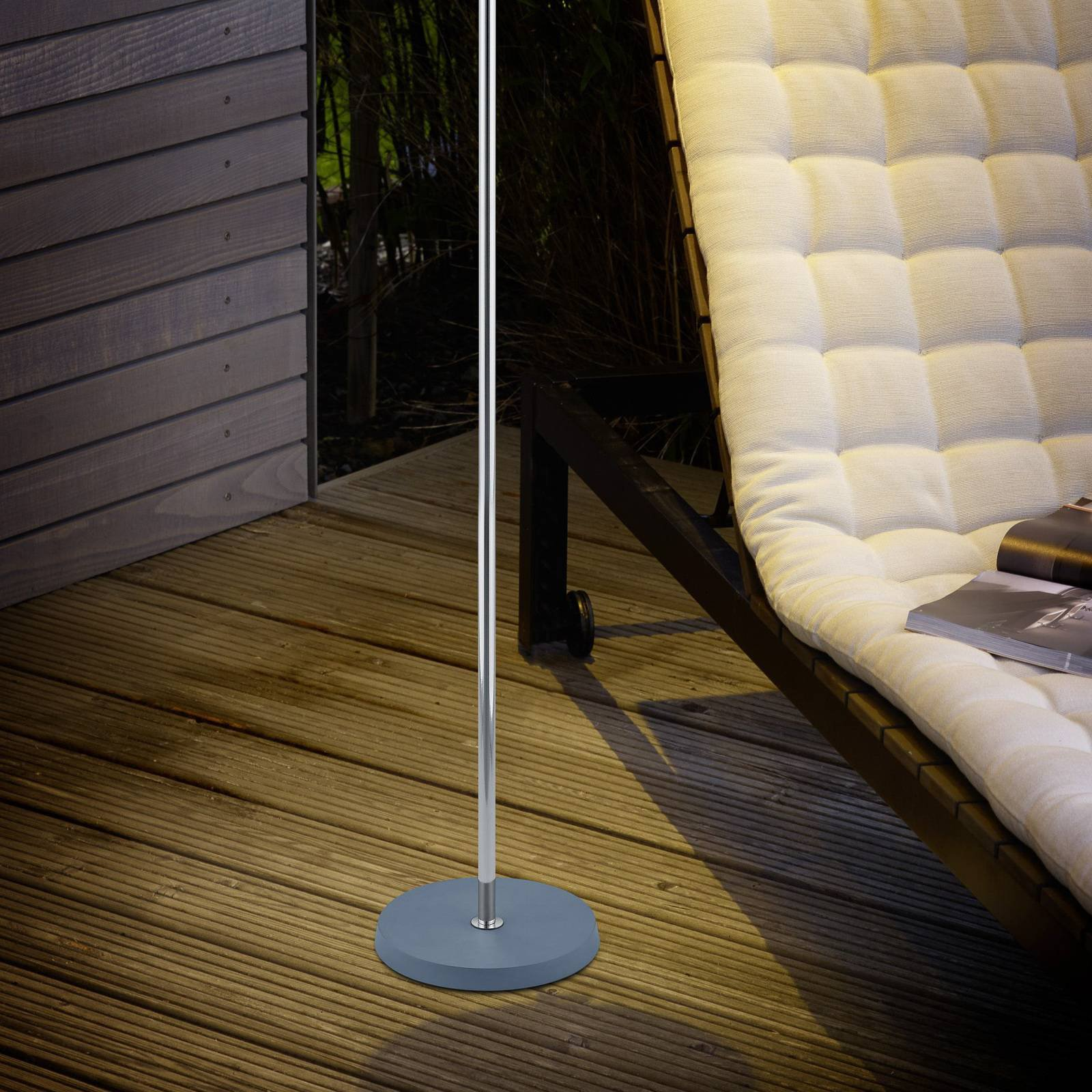 B-Leuchten Joy LED-gulvlampe med batteri antrasitt