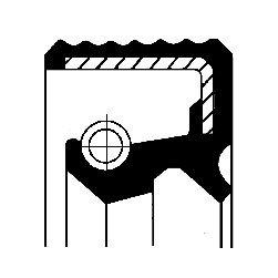 Oljepackningsring, hjullager, Ytter, Bakaxel, båda sidor
