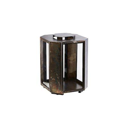 Lanterne Baazi Antikk Brun 28,5 cm