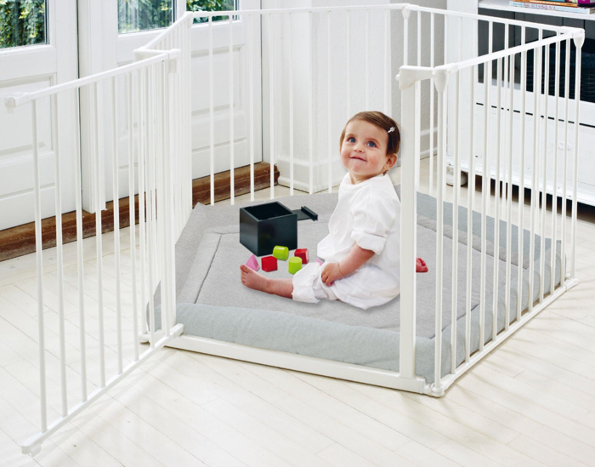 BabyDan Flex Leikkikehä ja Leikkimatto, Valkoinen