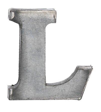 Bokstav L 5,5 cm - Zinc