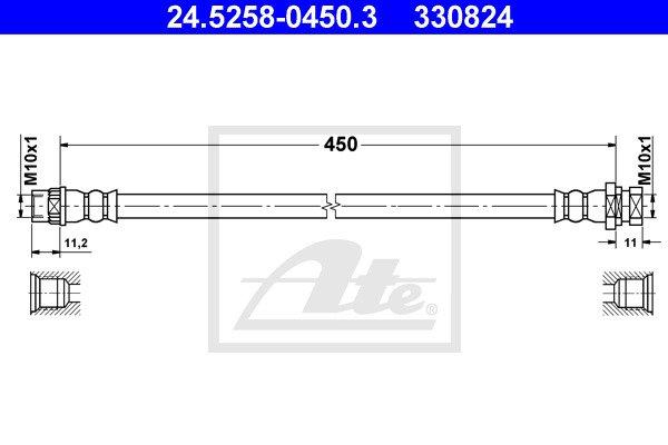 Jarruletku ATE 24.5258-0450.3