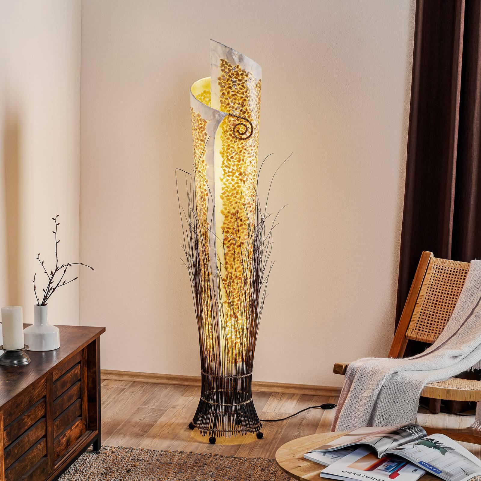 Eksoottinen YUNI-lattiavalaisin, 150 cm