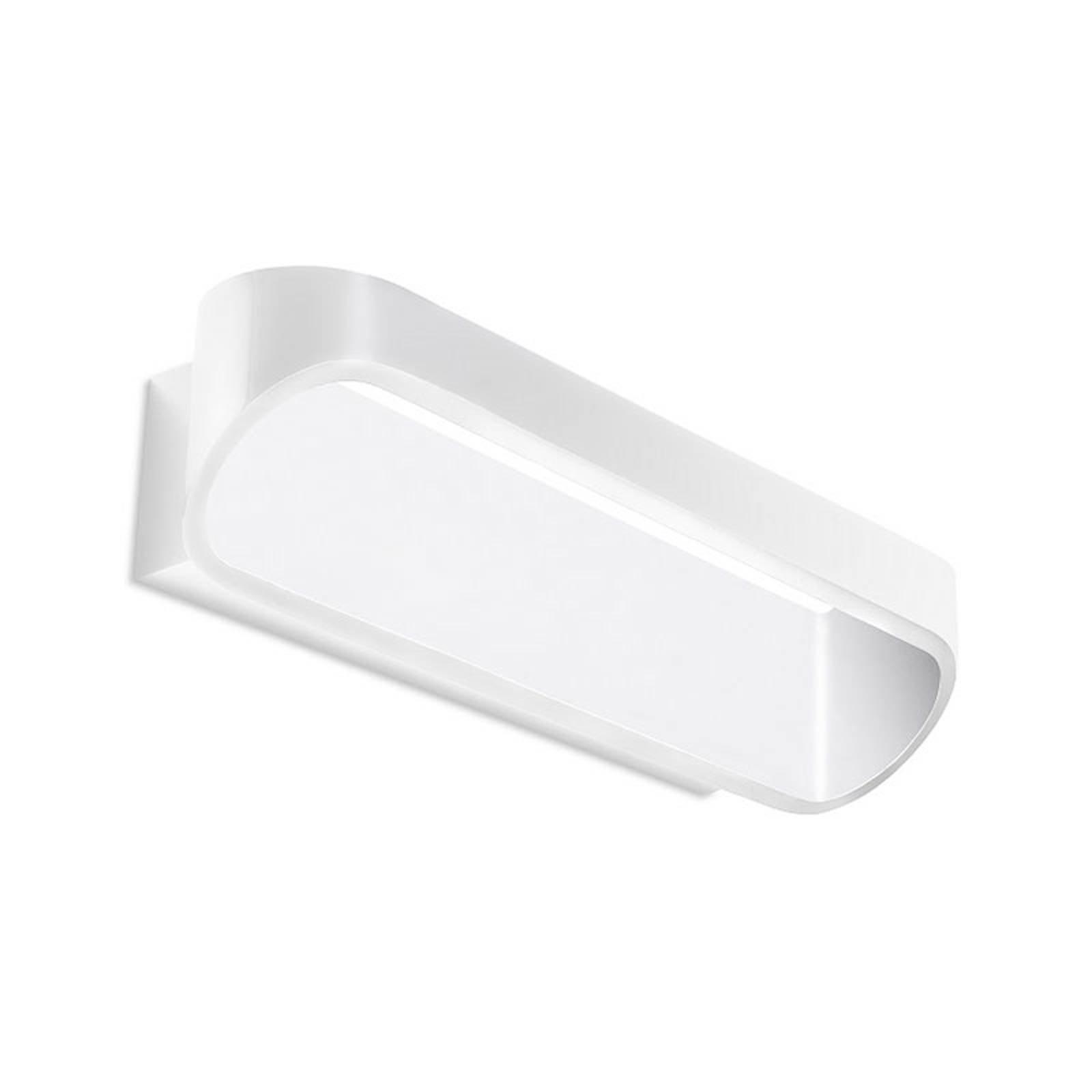 LEDS-C4 Oval LED-vegglampe i hvit