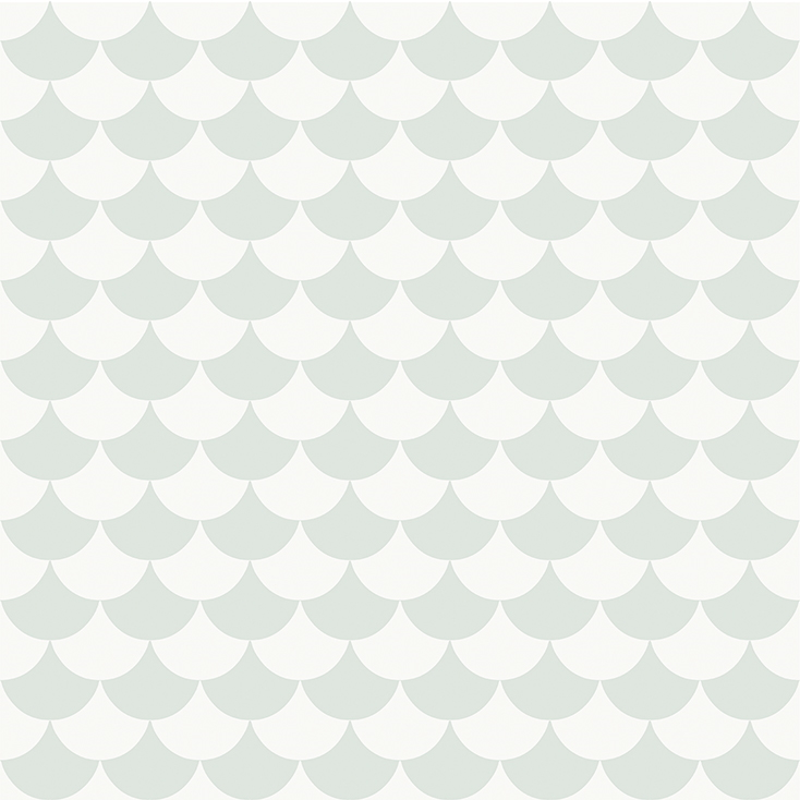 Tapet Waves - Dusty light aqua, Littlephant