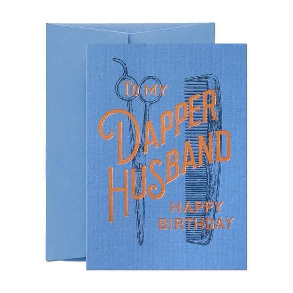 To My Dapper Husband Greeting Card