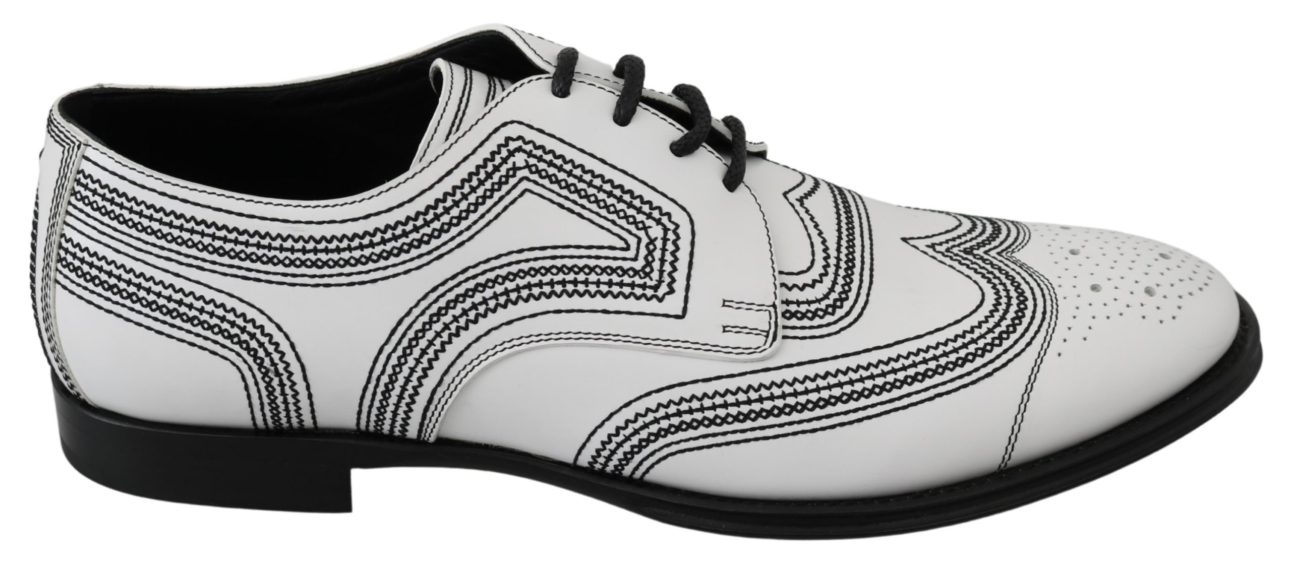 Dolce & Gabbana Men's Leather Formal Derby Shoe White MV3046 - EU44/US11
