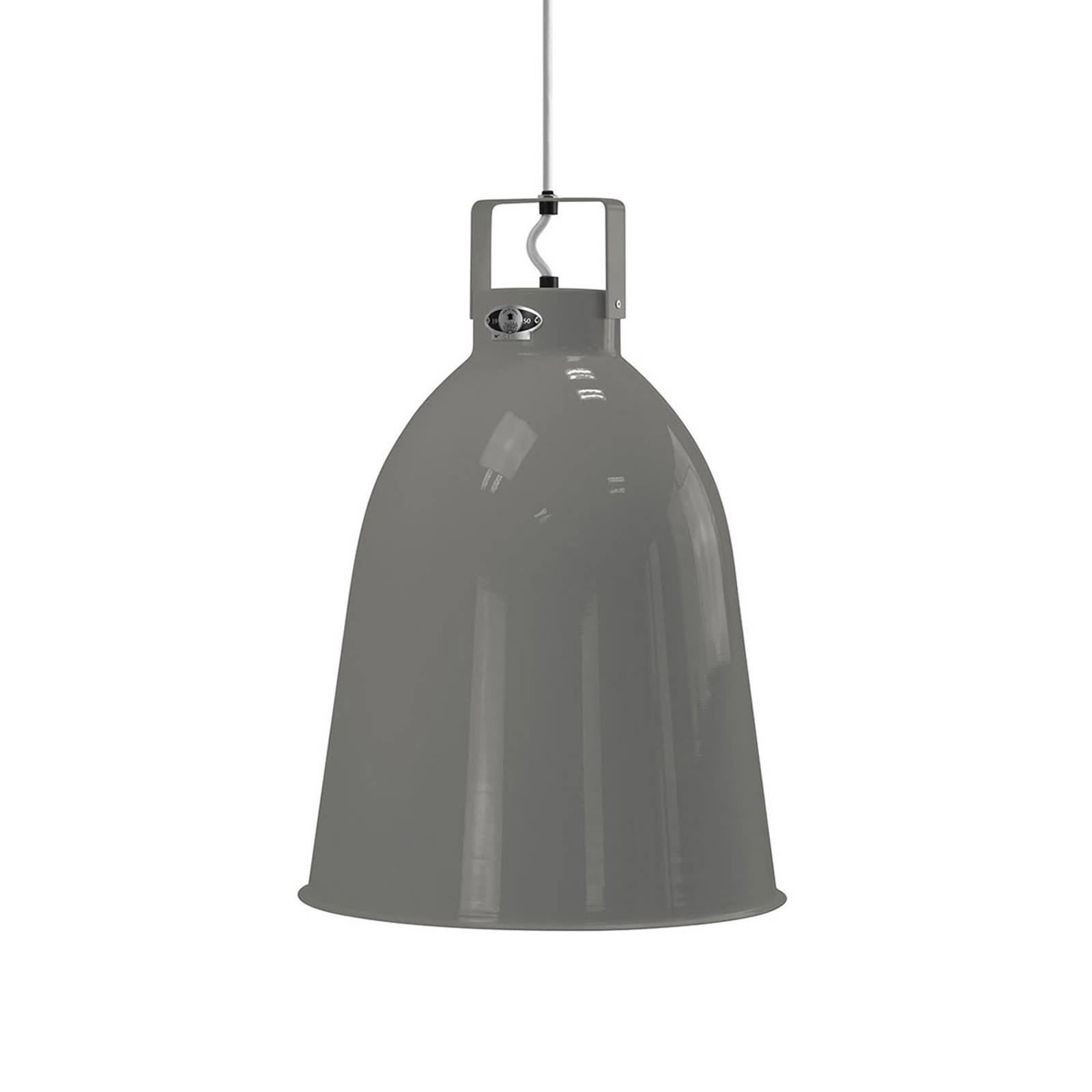Jieldé Clément C360 hengelampe, blank grå, Ø 36 cm