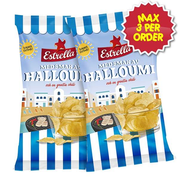 Estrella Chips Halloumi Chili 175g x 2
