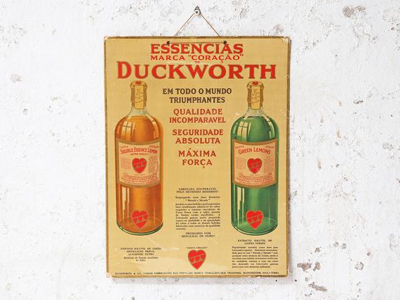Vintage Duckworth Essences Poster Brown Medium