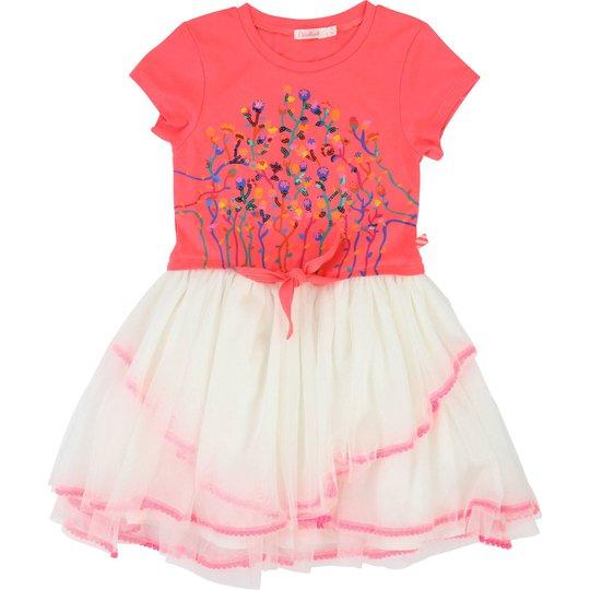 Billieblush Kjole, Pink Off White 10år