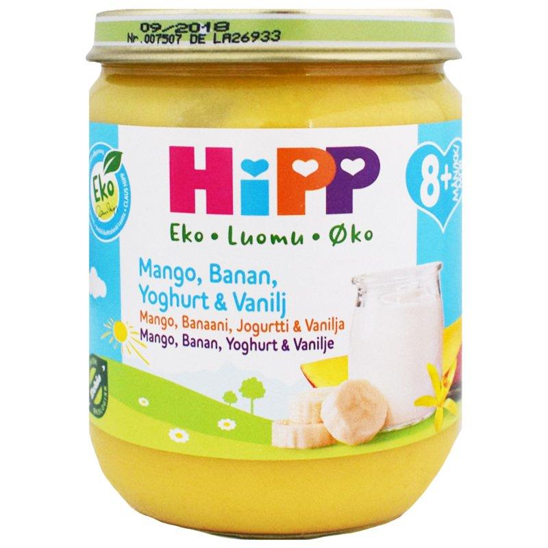 Lastenruoka Mango, Banaani, Jogurtti & Vanilja 160g - 17% alennus