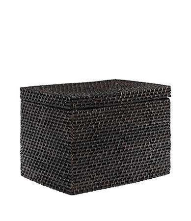 AMAZON rect box w lid deep brown