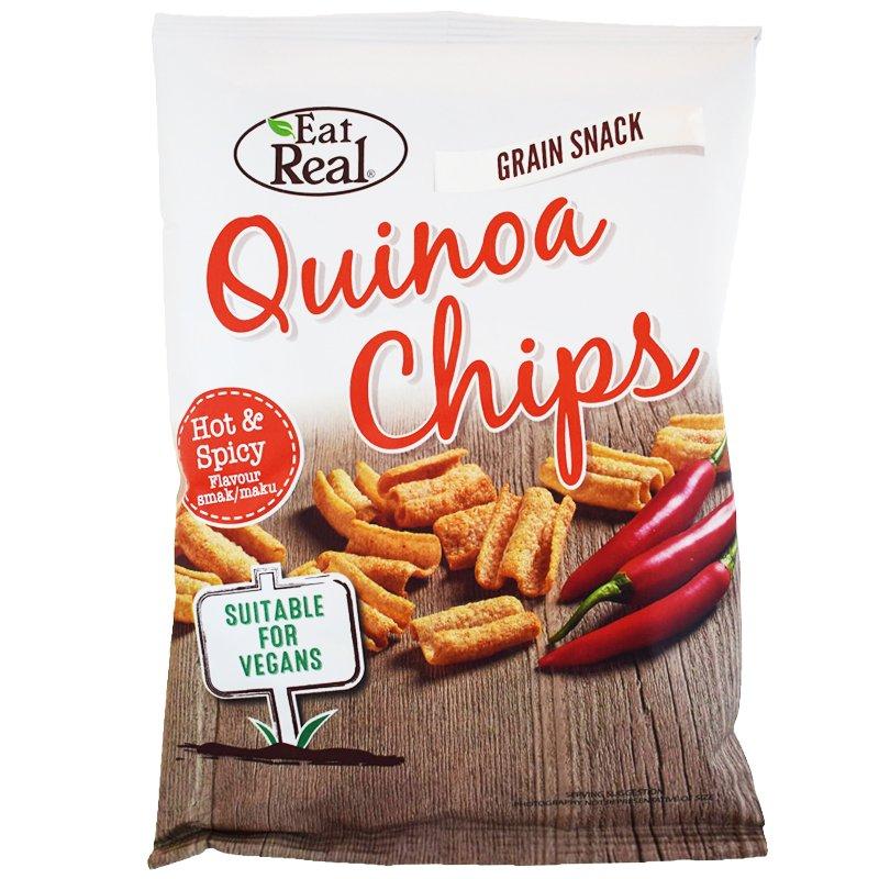 "Kvinoasipsit ""Hot & Spicy"" 30g - 34% alennus"