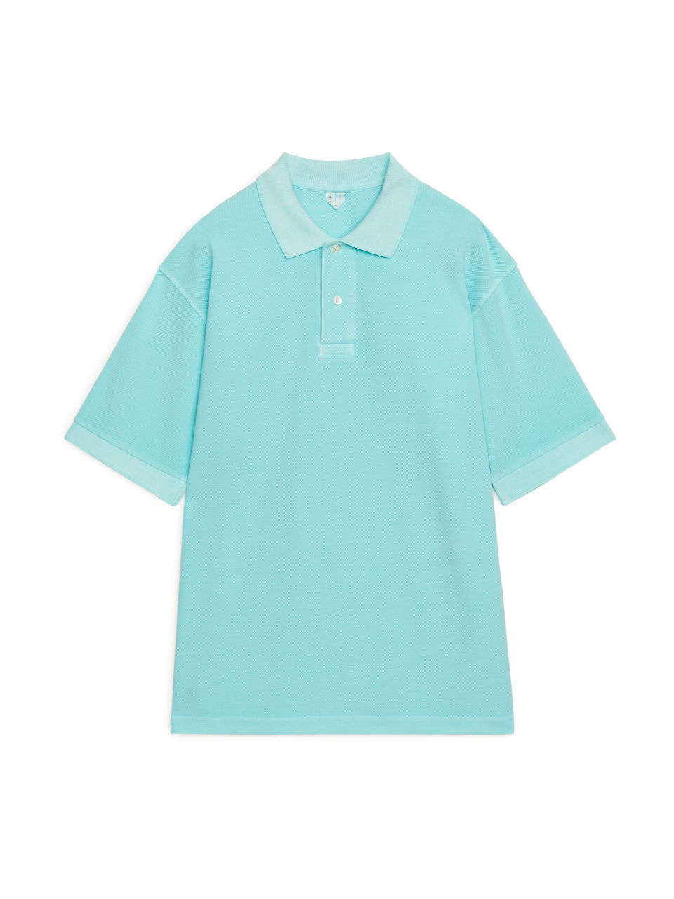 Garment-Dyed Polo Shirt - Turquoise
