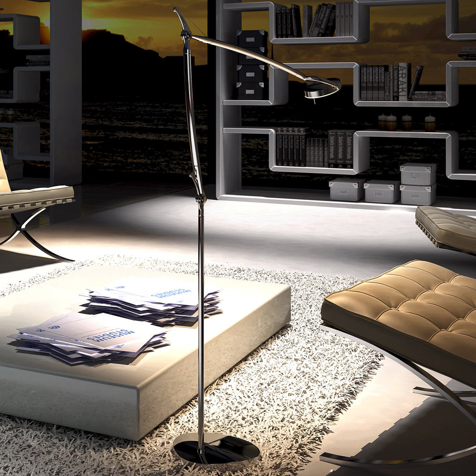 Moderne LED-gulvlampe Perceval
