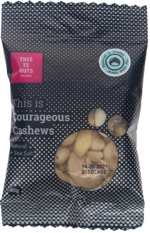 Nötter Courageous Cashews - 10% rabatt