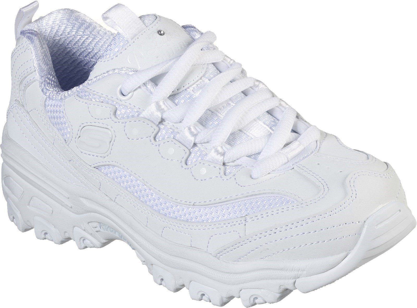 Skechers Unisex Lace Up D'Lites Trainers White 30547 - White 9.5 UK