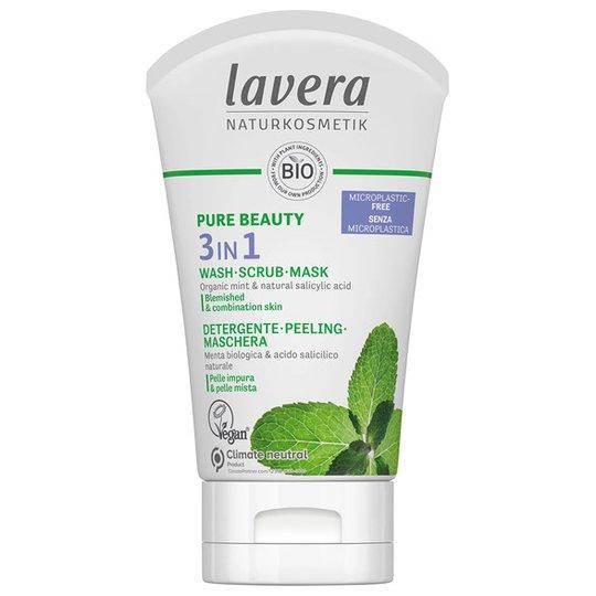 Lavera Pure Beauty 3-in-1 Wash, Scrub, Mask, 125 ml
