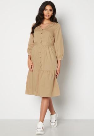 Happy Holly Adelyn balloon sleeve dress Light beige 40/42
