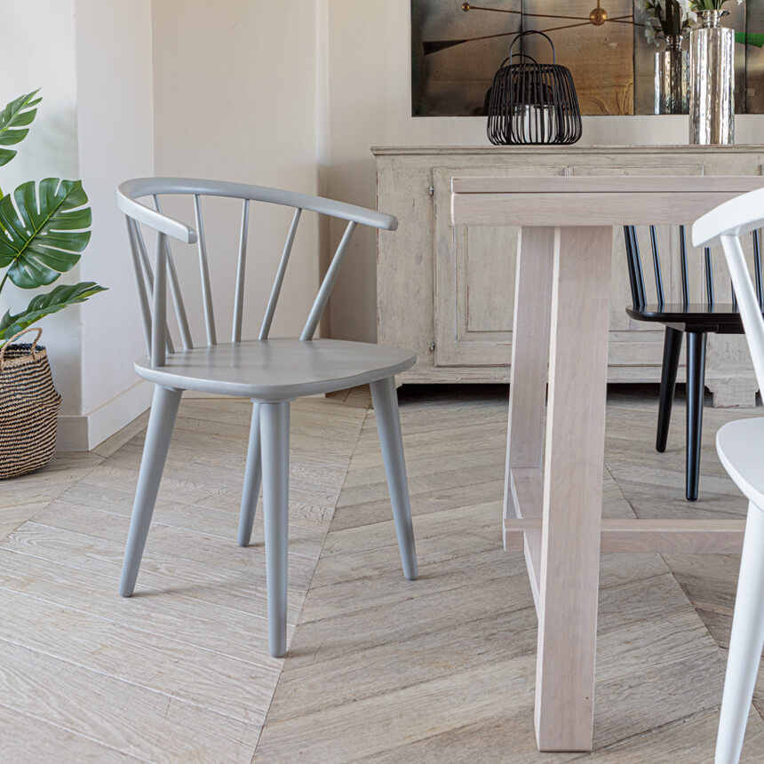 Brunswick Dining Chair – Light Grey (2pk)