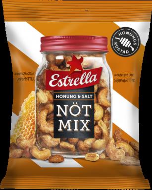 Estrella Nötmix Honung & Salt 175g