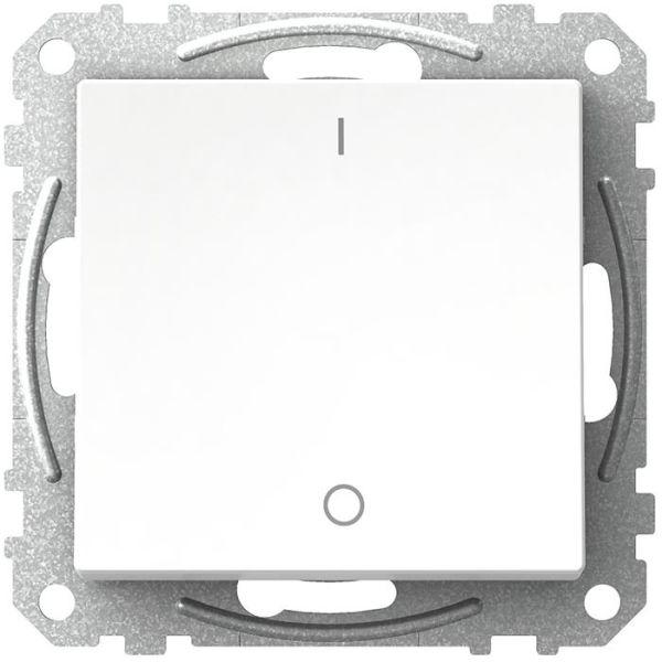 Schneider Electric Exxact WDE002106 Strømbryter firkantet vippe, uten klør, hvit 2 poler