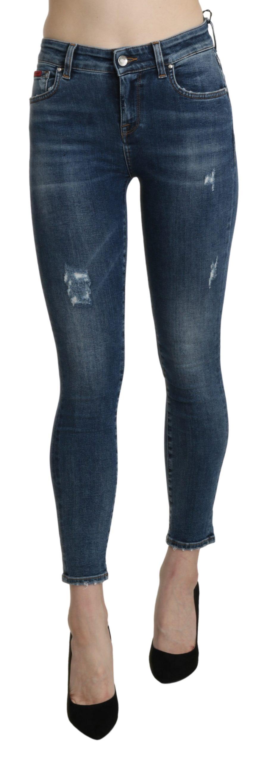 Blue Skinny Trouser Cotton Stretch Jeans - IT36|XXS